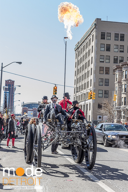 Marche Du Nain Rouge 2015 in Midtown Detroit