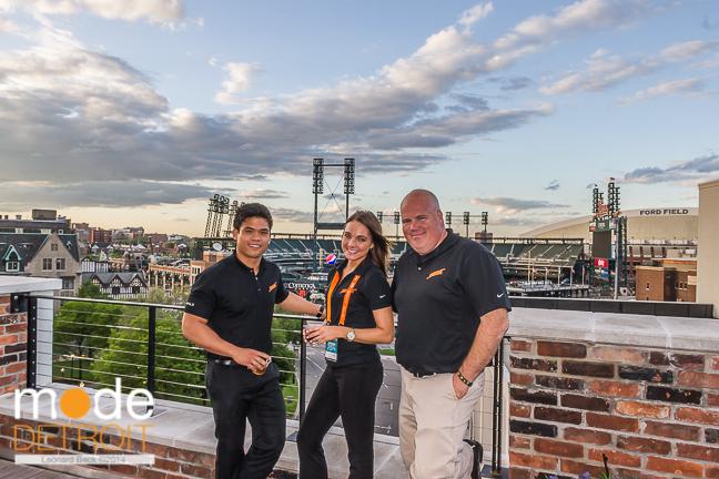Techweek Detroit M@dison building rooftop party