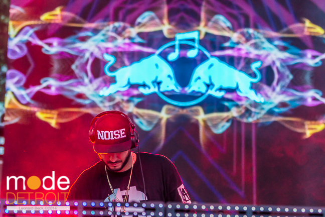 LOCO DICE on the Red Bull stage at Movement Festival at Hart Plaza Detroit Michigan on May 26th 2014