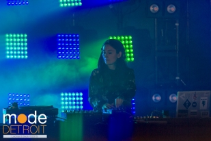 Paula Temple playing the Underground stage at Movement Festival at Hart Plaza Detroit Michigan on May 23-25th 2015