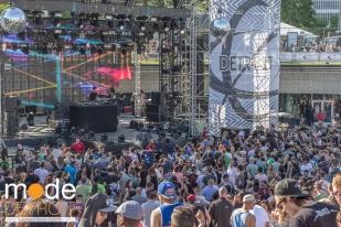 Mano Le Tough playing at Movement Festival at Hart Plaza Detroit Michigan on May 23-25th 2015
