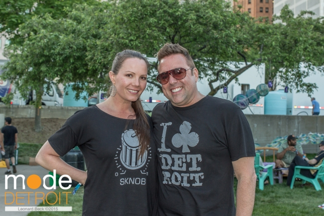 Kim Wilds ( http://iclubdetroit.com ) & Richard Zuniga at Movement Festival at Hart Plaza Detroit Michigan on May 23-25th 2015
