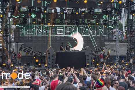 Art Department playing at Movement Festival at Hart Plaza Detroit Michigan on May 24th 2015