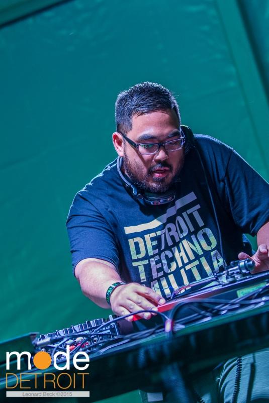 Neil V. of Detroit Techno Militia playing at Movement Festival at Hart Plaza Detroit Michigan on May 23-25th 2015