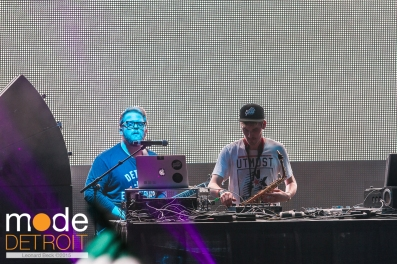 GRIZ & Muzzy Bearr playing at Movement Festival Hart Plaza Detroit Michigan on May 25th 2015