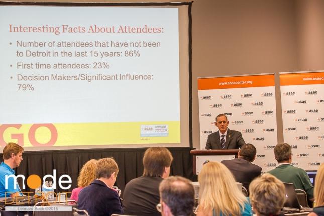 JOHN GRAHAM at ASAE Press Conference on Aug 10 2015