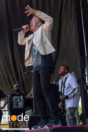 Set It Off performing at 21st Vans Warped Tour in Auburn Hills Michigan at The Palace of Auburn Hills on July 24th 2015