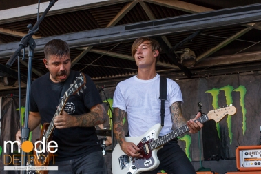 Silverstein performing at 21st Vans Warped Tour in Auburn Hills Michigan at The Palace of Auburn Hills on July 24th 2015