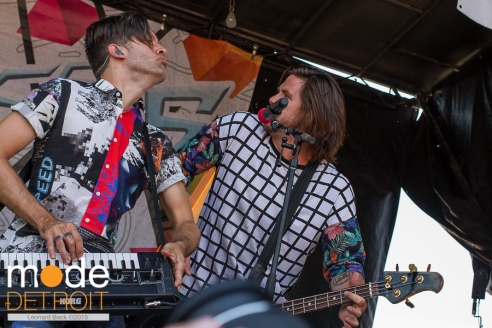 Family Force 5 performing at 21st Vans Warped Tour in Auburn Hills Michigan at The Palace of Auburn Hills on July 24th 2015