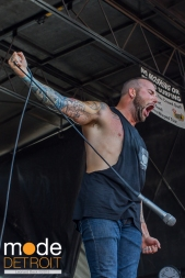August Burns Red performing at 21st Vans Warped Tour in Auburn Hills Michigan at The Palace of Auburn Hills on July 24th 2015