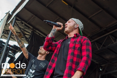 We Came As Romans performing at 21st Vans Warped Tour in Auburn Hills Michigan at The Palace of Auburn Hills on July 24th 2015