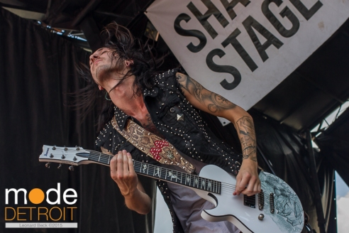 Asking Alexanderia performing at 21st Vans Warped Tour on the Shark Stage in Auburn Hills Michigan at The Palace of Auburn Hills on July 24th 2015