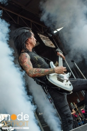 Black Veil Brides performing at 21st Vans Warped Tour on the Shark stage in Auburn Hills Michigan at The Palace of Auburn Hills on July 24th 2015
