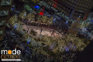 12th Annual Detroit Christmas Tree Lighting Ceremony at Campus Martius Park Downtown Detroit Michigan